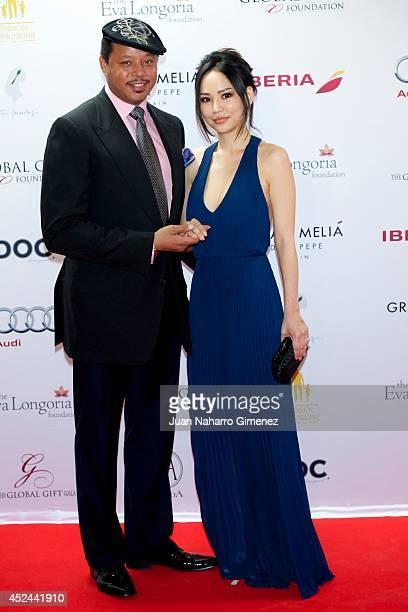 Terrence Howard and Miranda Howard attend Global Gift Gala 2014 at Melia Don Pepe Hotel on July 20 2014 in Marbella Spain