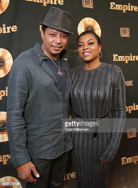 Terrence Howard and Taraji P Henson attend the 'Empire' FYC ATAS Event Red Carpet at Zanuck Theater at 20th Century Fox Lot on May 20 2016 in Los...
