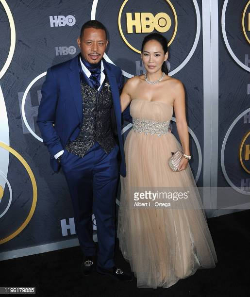 Terrence Howard and wife Mira Howard arrive for the HBO's Post Emmy Awards Reception held at The Plaza at the Pacific Design Center on September 22,...