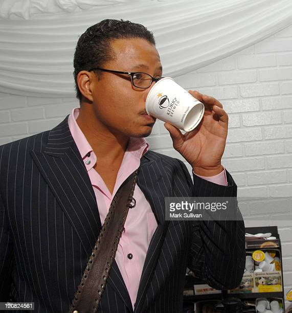 Terrence Howard at Keurig during The 48th Annual GRAMMY Awards - Distinctive Assets Talent Lounge - Day 3 at Staples Center in Los Angeles,...