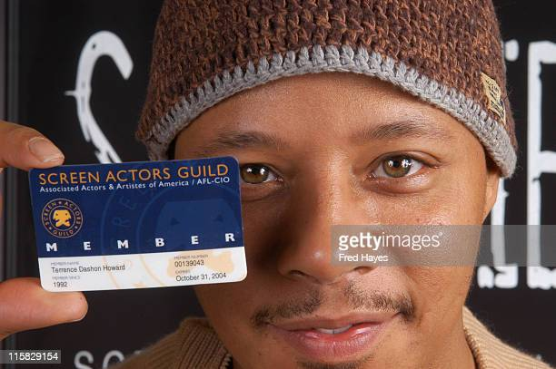 Terrence Howard during 2005 Sundance Film Festival SAG Indie Brunch at Cisero's in Park City Utah United States