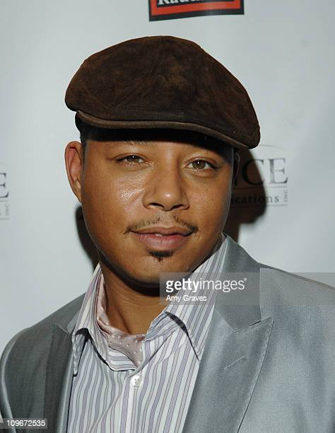 Terrence Howard during Jesse Raudales and Terrence Howard Peace for the Children Art Show at PounderKone Artspace in Glendale California United States