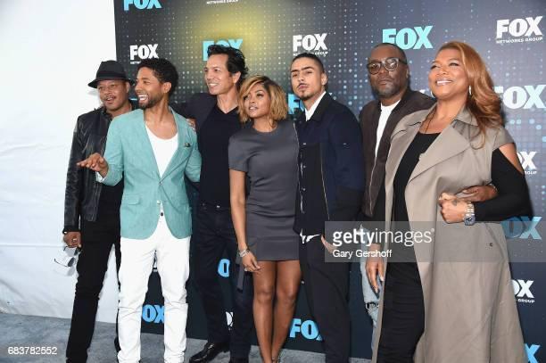 Terrence Howard Jussie Smollet Benjamin Bratt Taraji P Henson Quincy Brown Lee Daniels and Queen Latifa hof the show 'Empire' attends the FOX Upfront...