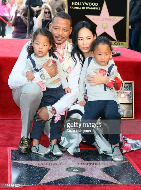 Terrence Howard, Mira Pak and sons Hero Howard and Quirin Howard attend Terrence Howard being honored with a Star on the Hollywood Walk of Fame on...