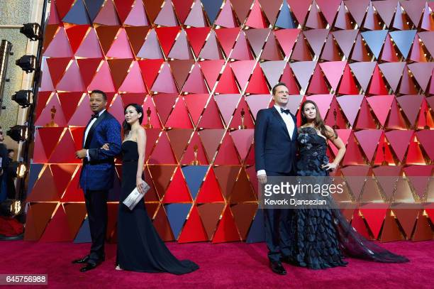 Terrence Howard Mira Pak Vince Vaughn and Kyla Weber attend the 89th Annual Academy Awards at Hollywood Highland Center on February 26 2017 in...