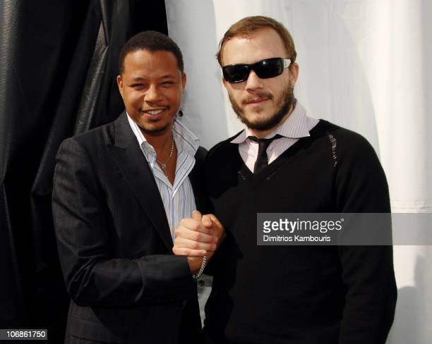 "Terrence Howard, nominee Best Male Lead for ""Hustle & Flow,"" and Heath Ledger, nominee Best Male Lead for ""Brokeback Mountain"" *EXCLUSIVE*"