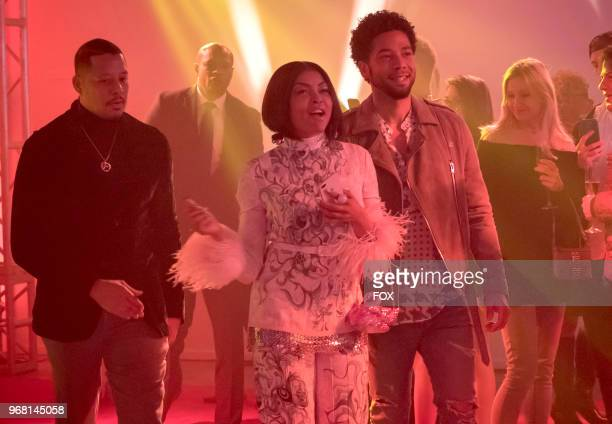 Terrence Howard Taraji P Henson and Jussie Smollett in the 'FAIR TERMS' episode of EMPIRE airing Wednesday May 9 on FOX