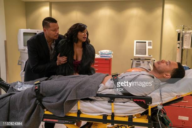 Terrence Howard Taraji P Henson and Trai Byers in the Had It From My Father fall finale episode of EMPIRE airing Wednesday Dec 5 on FOX