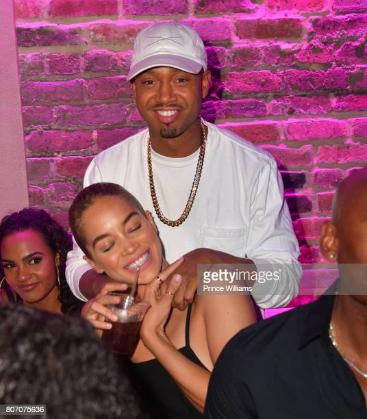 Terrence J and Jasmine Sanders attend The Art of Luxury 'Black and White Blowout' Party at Metropolitan Nightclub on July 2 2017 in New Orleans...