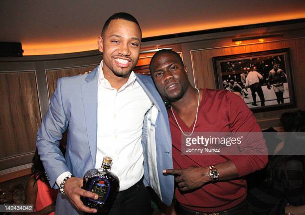Terrence J and Kevin Hart attend the 'Think Like a Man' screening after party at the 40 / 40 Club on April 4 2012 in New York City