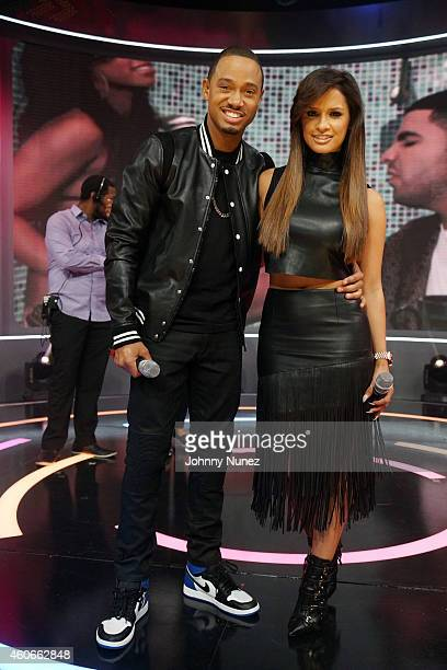 Terrence J and Rocsi host BET's '106 Park' at BET Studios on December 18 in New York City