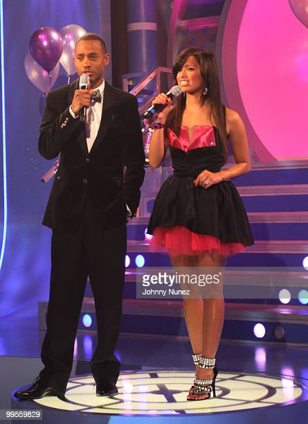 Terrence J and Rocsi on the set of BET's 106 Park at BET Studios on May 13 2010 in New York City
