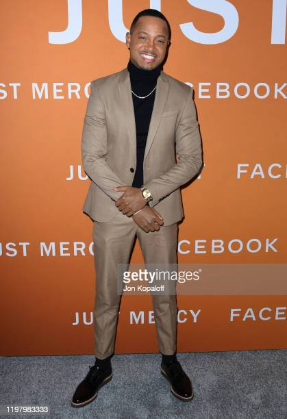 Terrence J attends the LA Community Screening Of Warner Bros Pictures' Just Mercy at Cinemark Baldwin Hills on January 06 2020 in Los Angeles...