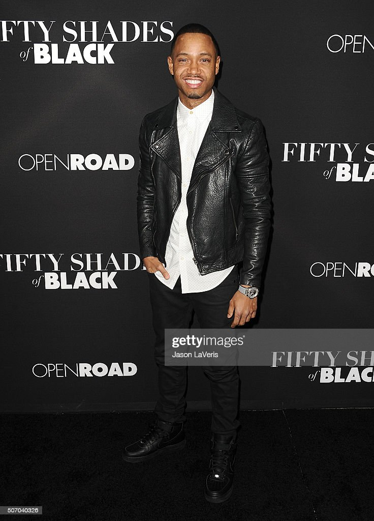 Terrence J attends the premiere of 'Fifty Shades of Black' at Regal Cinemas L.A. Live on January 26, 2016 in Los Angeles, California.