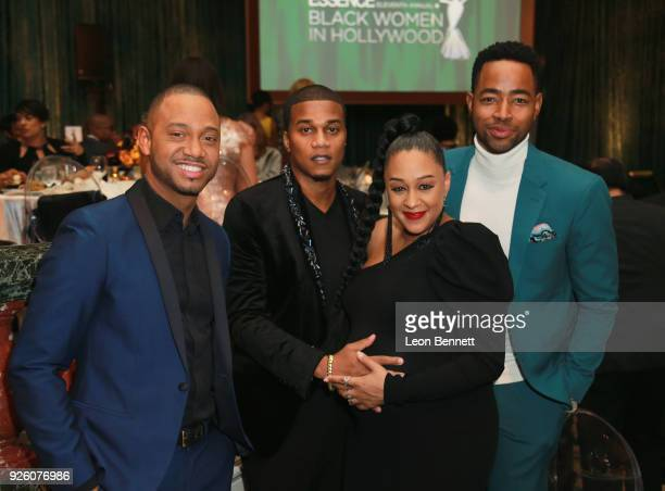 Terrence J Cory Hardrict Tia Mowry Hardict and Jay Ellis attend the 2018 Essence Black Women In Hollywood Oscars Luncheon at Regent Beverly Wilshire...