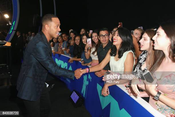 Terrence J greets audience during the 2017 MTV Video Music Awards at The Forum on August 27 2017 in Inglewood California