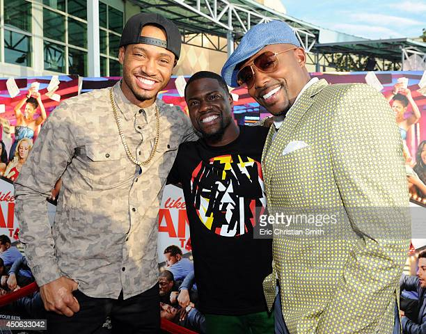Terrence J Kevin Hart and Will Packer attend Sony Pictures Think Like A Man Too Houston Red Carpet Screening With Kevin Hart Terrence J And Drake at...