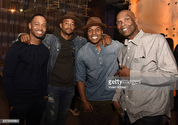 """Terrence J, Kevin Phillips, Sheldon Candis and Big Boy attend D'USSE Dinner Series With Angie Martinez """"My Voice"""" at BOA Steakhouse on May 19, 2016..."""