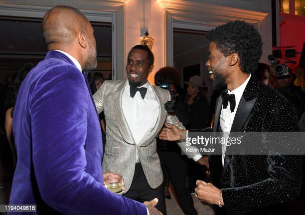 Terrence J, Sean Combs, and Chadwick Boseman attend Sean Combs 50th Birthday Bash presented by Ciroc Vodka on December 14, 2019 in Los Angeles,...