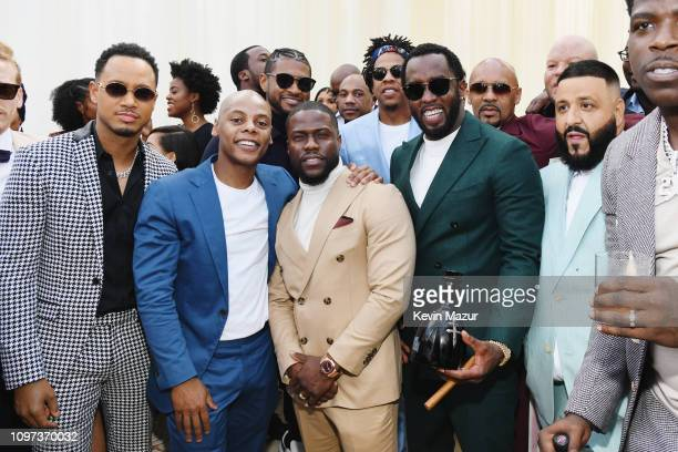 Terrence J Tyran Tata Smith Kevin Hart Diddy DJ Khaled and Casanovaa attend 2019 Roc Nation THE BRUNCH on February 9 2019 in Los Angeles California
