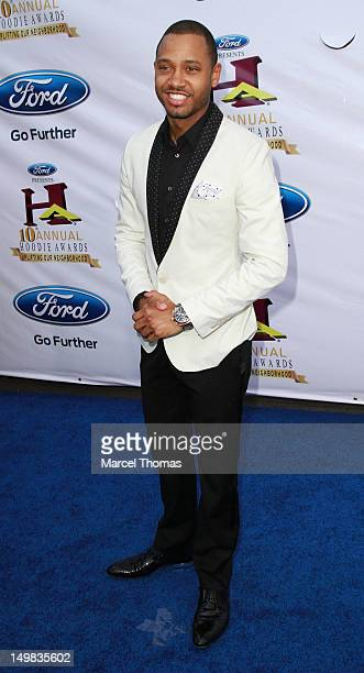 Terrence Jenkins walks the blue carpet at the 10th Annual Ford Hoodie Awards at MGM Garden Arena on August 4, 2012 in Las Vegas, Nevada.