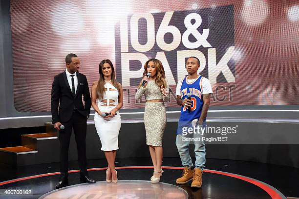Terrence Jennings Television Personality Rocsi Diaz rapper Shad Moss and Television personality Julissa Bermudez attend 106 Park Finale at CBS...