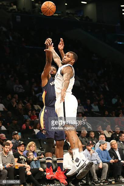 Terrence Jones of Brooklyn Nets during an NBA match against New Orleans Pelicans at Barclays Center in Brooklyn borough of New York USA January 12...