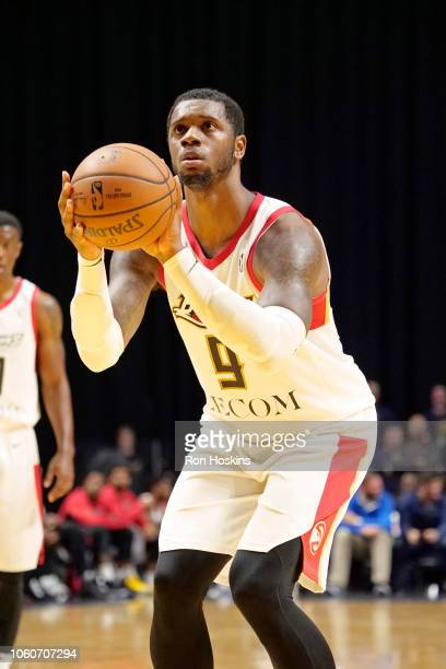 Terrence Jones of the Erie BayHawks drives to the basket and shoots the ball against the Fort Wayne Mad Ants on November 9 2018 at Memorial Coliseum...