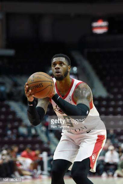 Terrence Jones of the Erie BayHawks shoots a free throw against the Raptors 905 during the NBA G League on January 13 2019 at the Paramount Fine...