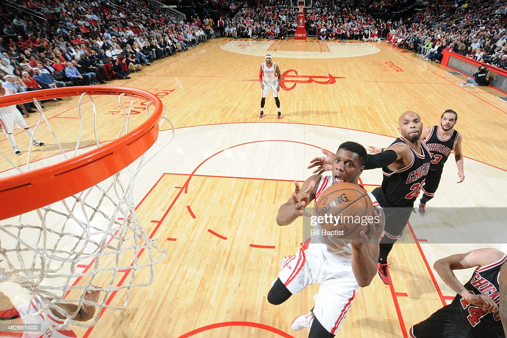 Terrence Jones 6 Of The Houston Rockets Shoots Against Chicago Bulls On February 4