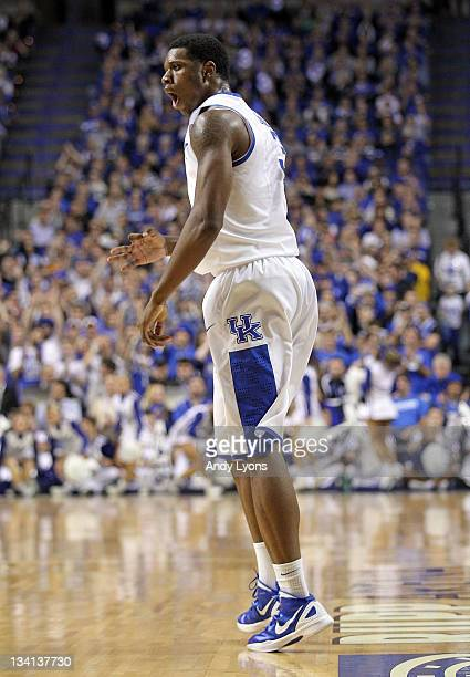 Terrence Jones of the Kentucky Wildcats shoots the ball during the game against the Portland Pilots at Rupp Arena on November 26 2011 in Lexington...