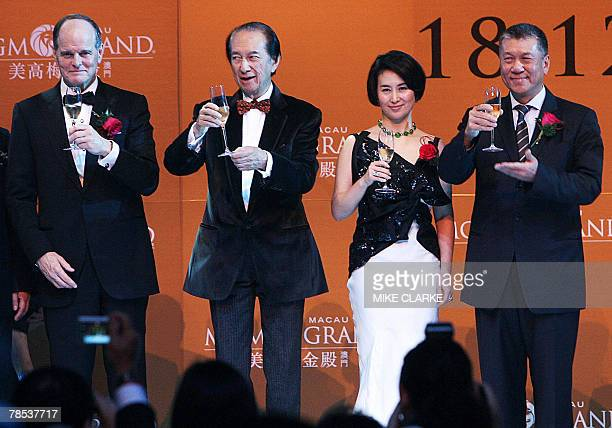 J Terrence Lanni Chairman of Board and CEO MGM Casino mogul Stanley Ho Pansy Ho Managing Director of MGM Grand and Chief Executive Macau SAR Edmund...