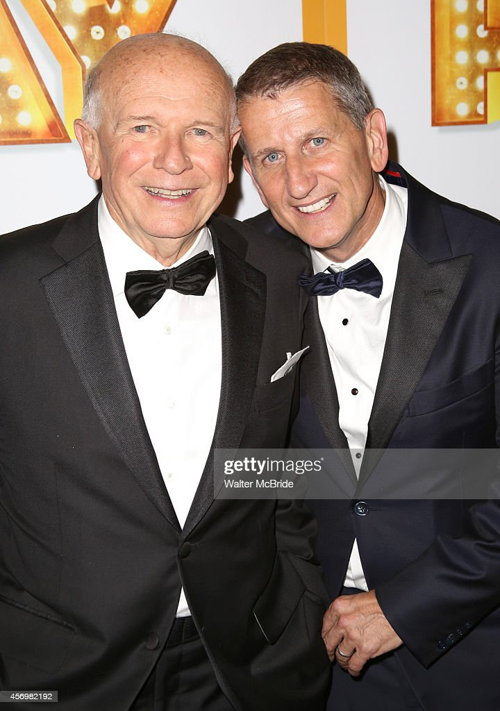 Terrence McNally and husband Thomas Kirdahy attend the Broadway Opening Night Performance After Party for 'It's Only A Play' at the Mariott Marquis on October 9, 2014 in New York City.