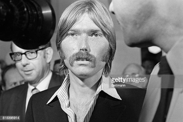 Terrence P 'Terry' Melcher 27yearold son of actress Doris Day attends the Los Angeles County grand jury probe into the Sharon Tate murder case Miss...