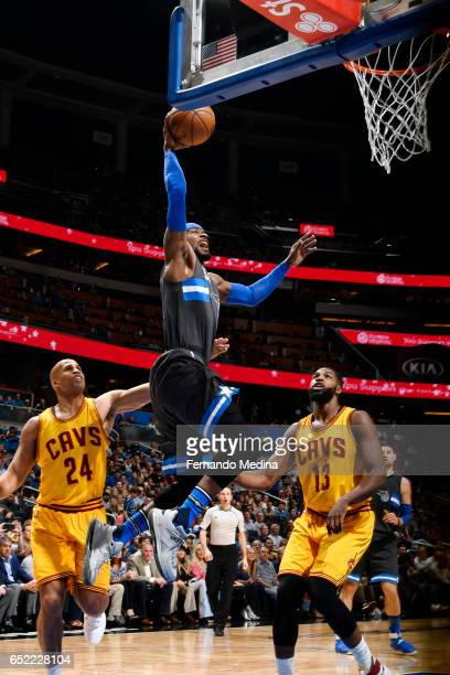 Terrence Ross of the Orlando Magic dunks against the Cleveland Cavaliers during the game on March 11 2017 at Amway Center in Orlando Florida NOTE TO...