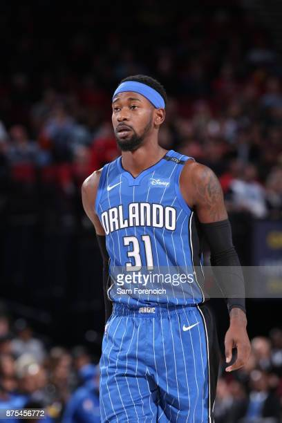 Terrence Ross of the Orlando Magic during the game against the Portland Trail Blazers on November 15 2017 at the Moda Center in Portland Oregon NOTE...