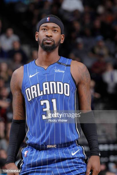 Terrence Ross of the Orlando Magic looks on during the game against the Sacramento Kings on January 7 2019 at Golden 1 Center in Sacramento...