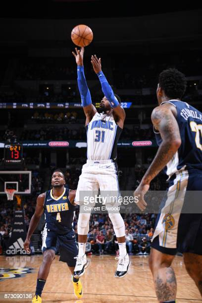 Terrence Ross of the Orlando Magic shoots the ball against the Denver Nuggets on November 11 2017 at the Pepsi Center in Denver Colorado NOTE TO USER...