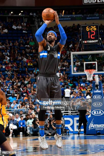 Terrence Ross of the Orlando Magic shoots the ball against the Indiana Pacers on March 24 2017 at Amway Center in Orlando Florida NOTE TO USER User...