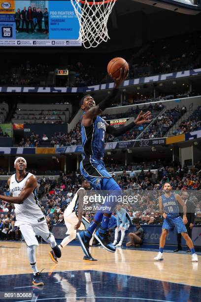 Terrence Ross of the Orlando Magic shoots the ball against the Memphis Grizzlies on November 1 2017 at FedExForum in Memphis Tennessee NOTE TO USER...