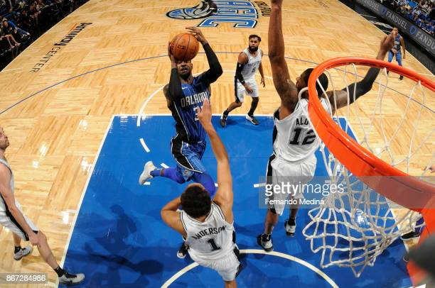 Terrence Ross of the Orlando Magic shoots the ball against the San Antonio Spurs on October 27 2017 at Amway Center in Orlando Florida NOTE TO USER...