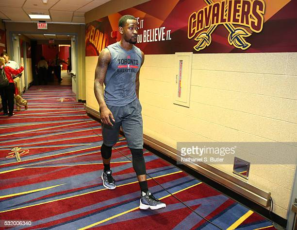 Terrence Ross of the Toronto Raptors is seen before the game against the Cleveland Cavaliers in Game One of the Eastern Conference Finals during the...