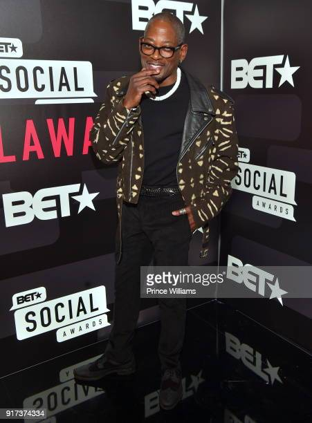 Terrence 'TC' Carson attends BET Social Awards Red Carpet at Tyler Perry Studio on February 11 2018 in Atlanta Georgia