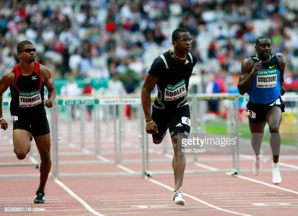 Terrence TRAMMELL / Dayron ROBLES / Ladji DOUCOURE 110m Haies Meeting d'Athletisme Gaz de France Stade de France Paris Saint Denis