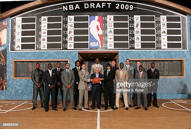 Terrence Williams, Jrue Holiday, DeMar DeRozan, Gerald Henderson, Jordan Hill, Stephen Curry, Hasheem Thabeet, NBA Commissioner David Stern, Ricky...