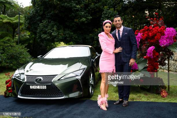 Terri Biviano and Anthony Minnichello attend the 2020 Melbourne Cup Carnival Sydney Launch on October 27 2020 in Sydney Australia