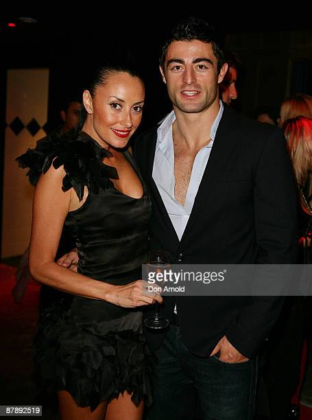Terri Biviano and Anthony Minnichello attend the Chandon Supper Club after party at The Club in Kings Cross on May 21 2009 in Sydney Australia