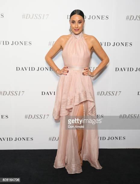 Terri Biviano arrives ahead of the David Jones Spring Summer 2017 Collections Launch at David Jones Elizabeth Street Store on August 9 2017 in Sydney...
