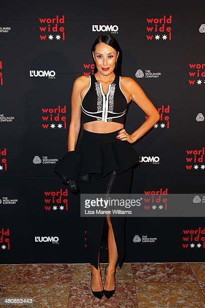 Terri Biviano arrives at the L'Uomo Vogue and Woolmark Company Gala and Exhibition to celebrate L'Uomo Vogue magazine's March Issue dedicated to...
