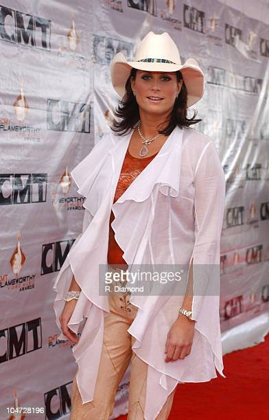 Terri Clark during 2003 CMT Flameworthy Awards Arrivals at The Gaylord Center in Nashville Tennessee United States